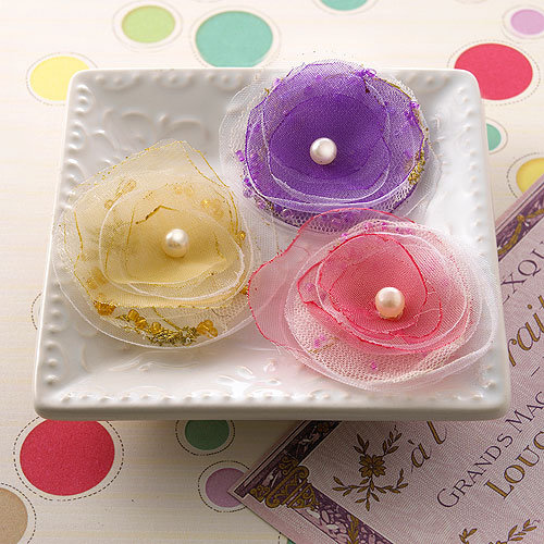 Websters Pages - Girl Land Collection - Florettes - Fabric Flowers - Mini - Princess Petals