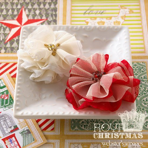 Websters Pages - Royal Christmas Collection - Florettes - Fabric Flowers - Mini - Princess Petals