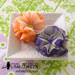 Websters Pages - Once Upon a Halloween Collection - Florettes - Fabric Flowers - Mini - Perfect Petals