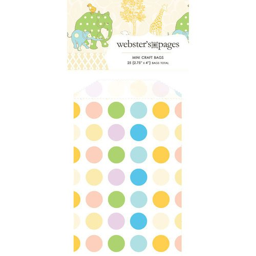 Webster's Pages - New Beginnings Collection - Mini Craft Bags - Polka - Multi