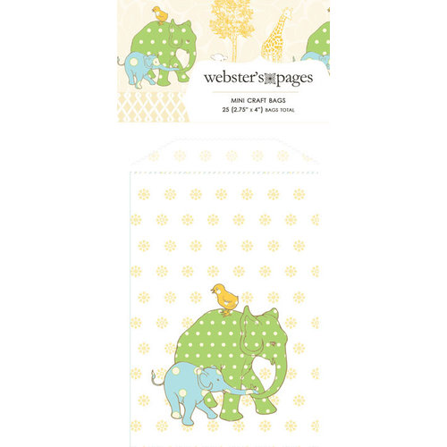 Webster's Pages - New Beginnings Collection - Mini Craft Bags - Large Elephants