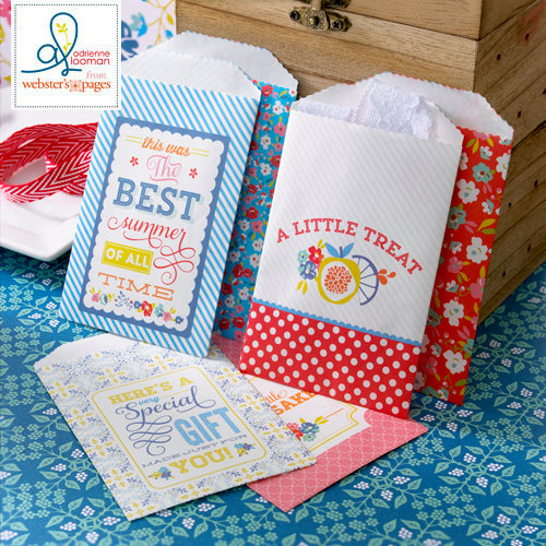 Websters Pages - Adrienne Looman - Citrus Squeeze Collection - Mini Craft Bags