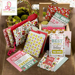 Websters Pages - Adrienne Looman - Plum Seed Collection - Mini Folders and Cards Set