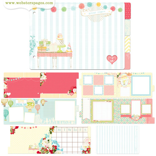 Websters Pages - Party Time Collection - Chipboard Album