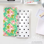Websters Pages - Color Crush Collection - 2 Notepad Inserts - Floral and Dots