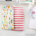 Websters Pages - Color Crush Collection - 2 Notepad Inserts - Feather and Stripe