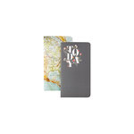 Websters Pages - Color Crush Collection - 2 Notepad Inserts - Map and Today