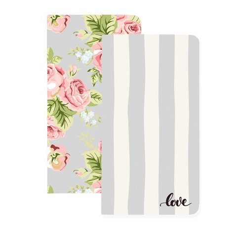Websters Pages - Color Crush Collection - 2 Notepad Inserts - Love and Floral