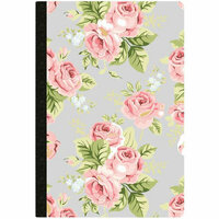 Websters Pages - Color Crush Collection - Composition Notebook - Grey Floral - Dot Grid