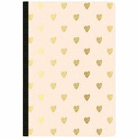 Websters Pages - Color Crush Collection - Composition Notebook - Gold Heart - Day Tracker