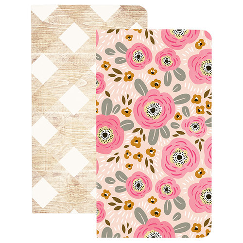Websters Pages - My Happy Place Collection - Traveler Notebooks - Flower and Wood