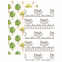 Websters Pages - My Happy Place Collection - Traveler Notebooks - House and Trees