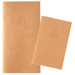 Websters Pages - Color Crush Collection - 2 Traveler's Notepad Inserts - Pocket Size - Kraft