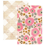 Websters Pages - My Happy Place Collection - Pocket Notebooks - Flower and Wood