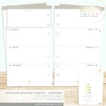 Websters Pages - Color Crush Collection - Personal Planner - Inserts - 18 Month - Week View Calendar