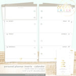 Websters Pages - Color Crush Collection - Personal Planner - Inserts - 18 Month - Week View Calendar - July 2015 to Dec. 2016