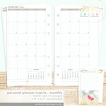 Websters Pages - Color Crush Collection - Personal Planner - Inserts - 18 Month - Month View Calendar
