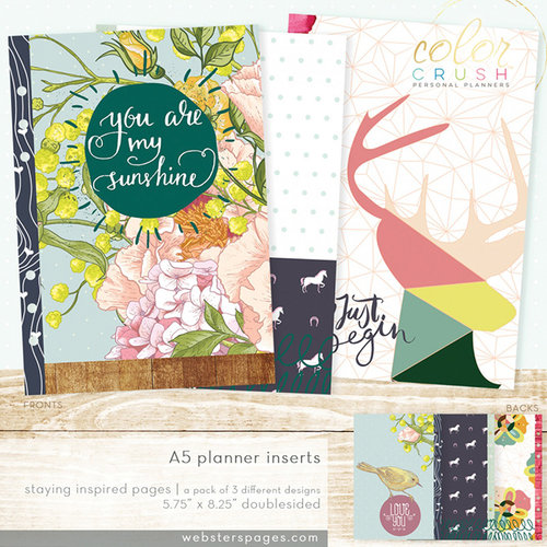 Websters Pages - Color Crush Collection - A5 Planner - Inserts - Staying Inspired