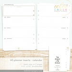 Websters Pages - Color Crush Collection - A5 Planner - Inserts - 18 Month - Week View Calendar