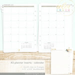 Websters Pages - Color Crush Collection - A5 Planner - Inserts - 18 Month - Month View Calendar