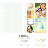 Websters Pages - Color Crush Collection - A5 Planner - Inserts - Photo Sleeves - Design A - 8 Pack