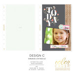 Websters Pages - Color Crush Collection - A5 Planner - Inserts - Photo Sleeves - Design C - 8 Pack