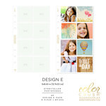 Websters Pages - Color Crush Collection - A5 Planner - Inserts - Photo Sleeves - Design E - 8 Pack