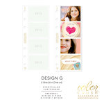 Websters Pages - Color Crush Collection - Personal Planner - Inserts - Photo Sleeves - Design G - 8 Pack