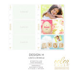 Websters Pages - Color Crush Collection - Personal Planner - Inserts - Photo Sleeves - Design H - 8 Pack