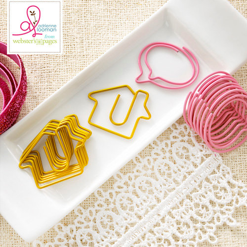 Websters Pages - Sweet Routine Collection - Paperclips - Houses and Bubbles