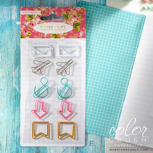 Websters Pages - Color Crush Collection - Paper Clip Set