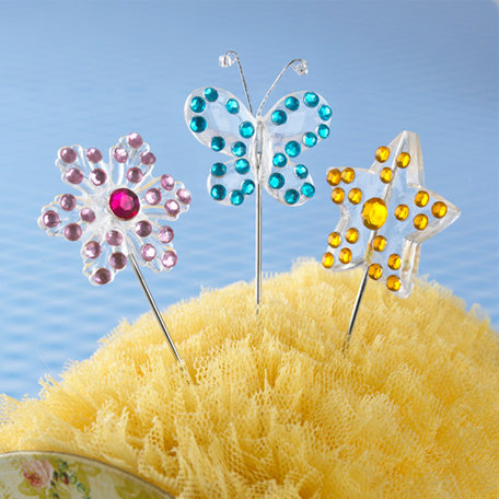 Websters Pages - Let's Celebrate Collection - Push Pins - Long Needle - Sparkle
