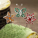 Websters Pages - A Botanical Christmas Collection - Push Pins - Long Needle - Sparkle