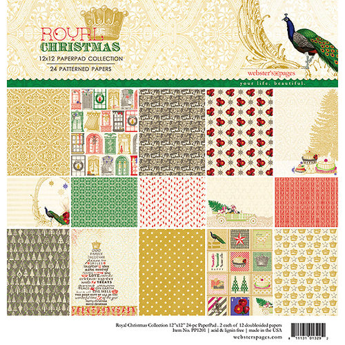 Websters Pages - Royal Christmas Collection - 12 x 12 Collection Pad