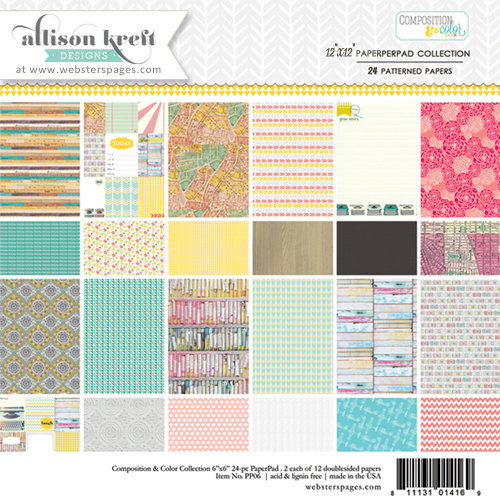 Webster's Pages - Composition and Color Collection - 12 x 12 Paper Pad
