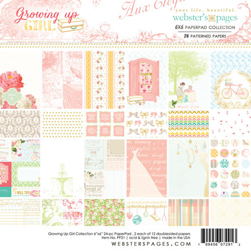 Websters Pages - Growing Up Girl Collection - 6 x 6 Paper Pad