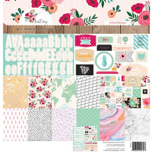 Websters Pages - A New Day Collection - 12 x 12 Deluxe Paper Pad - Volume 3