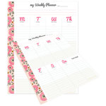 Websters Pages - My Happy Place Collection - Weekly Planner Tear-Away Pad - Undated