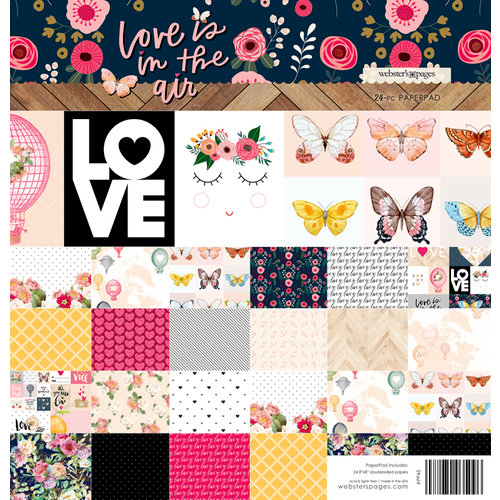 Websters Pages - Love is in the Air Collection - 8 x 8 Paper Pad