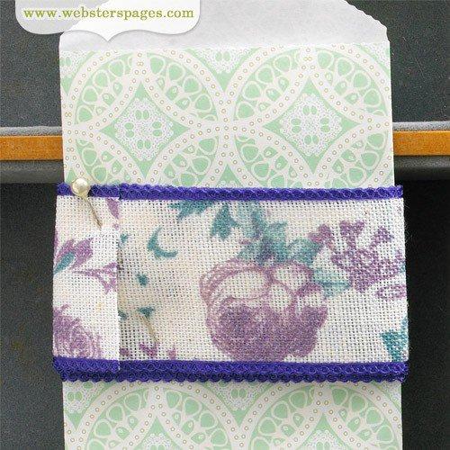 Websters Pages - Quick Picks Collection - Designer Trim - Plum Floral