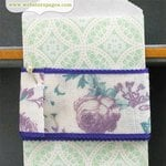 Websters Pages - Quick Picks Collection - Designer Trim - Plum Floral