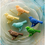 Websters Pages - Whimsies - Resin Embellishment Pieces - Country Birds - Variety