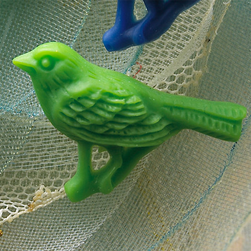 Websters Pages - Whimsies - Resin Embellishment Pieces - Country Birds - Green