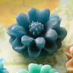 Websters Pages - Whimsies - Resin Embellishment Pieces - Mini Flower Petals - Blue
