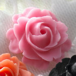 Websters Pages - Whimsies - Resin Embellishment Pieces - Roses in Bloom - Pink