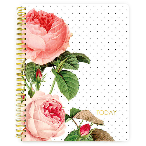 Websters Pages - The Good Life Collection - Spiral Notebook - Floral Calendar - Undated