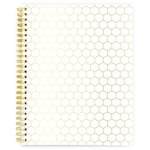 Websters Pages - My Happy Place Collection - Spiral Notebook - Lined - Honeycomb