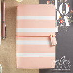 Websters Pages - Color Crush Collection - Traveler's Planner - Blush Stripe