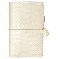 Websters Pages - Color Crush Collection - Traveler's Planner - White Diamond Stitching