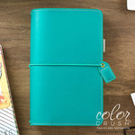 Websters Pages - Color Crush Collection - Travelers Planner - Jade